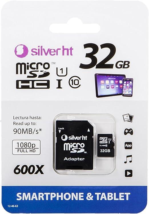 SilverHT Premium - Tarjeta de memoria MicroSD de 32 GB: Amazon.es ...