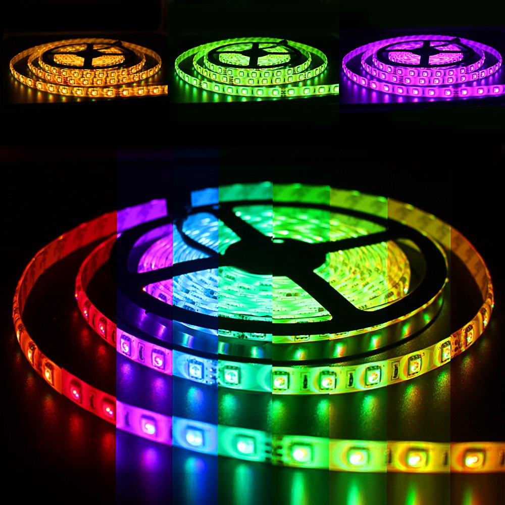 Color lines online strip game - Solarphy 32 8ft 10m Rgb Led Strip Light Bluetooth Smartphone App Controlled 5050 Led Light Strip 600 Leds Waterproof Rgb Multicolored Led Lights Kit With