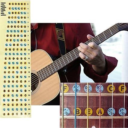 King Do Way Guitarra Guitar Diapasón Ordenador Label teclas Skin ...