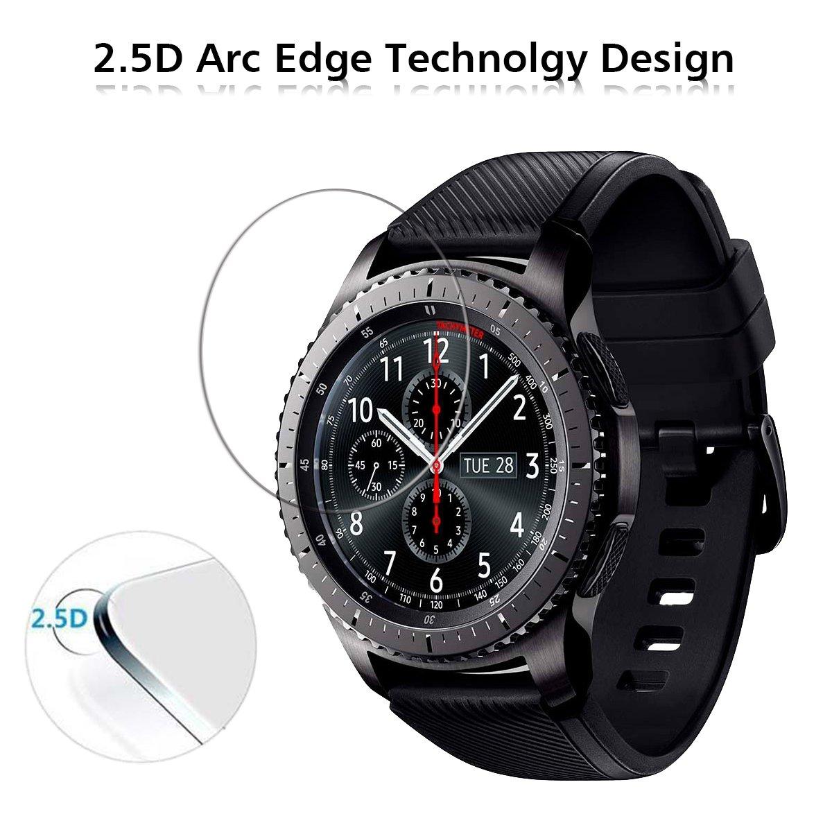 ivoler [3 Unidades] Protector de Pantalla para Samsung Galaxy Watch 46mm / Samsung Gear S3 Frontier / S3 Classic, Cristal Vidrio Templado Premium ...