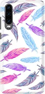 Stylizedd Huawei P30, Slim Snap Basic Case Cover Matte Finish - Feather Colors