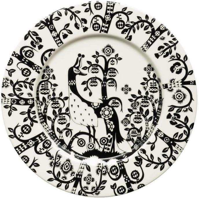 "(Satz von 4) Iittala Taika Salad Plate 8.75"", Black"