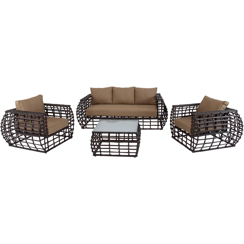 Amazon Hanover Outdoor Furniture Soho 4 Piece Modern Lounge