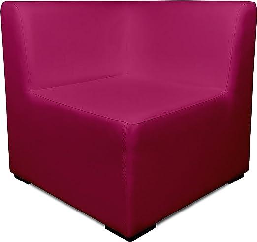 SUENOSZZZ-ESPECIALISTAS DEL DESCANSO Sofa Exterior Modular Benahavis rinconera Color Fucsia tapizado en Polipiel Silva. Chill out Jardin o recepcion.: Amazon.es: Hogar