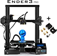 SainSmart x Creality Ender-3 PRO 3D Printer with Upgraded C-Magnet Build Surface Plate Mat, UL Certified Power Supply, Extra