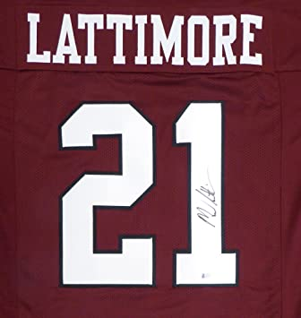12820ff62 South Carolina Gamecocks Marcus Lattimore Autographed Maroon Jersey Beckett  BAS