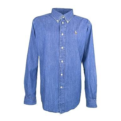 Ralph Lauren Chemise Large Bleu en Jean pour Femme  Amazon.fr  Vêtements et  accessoires c0be5003ad4