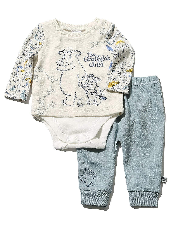 M& Co The Gruffalo Newborn Boy Long Sleeve Character Print Top Blue Cuffed Joggers Set