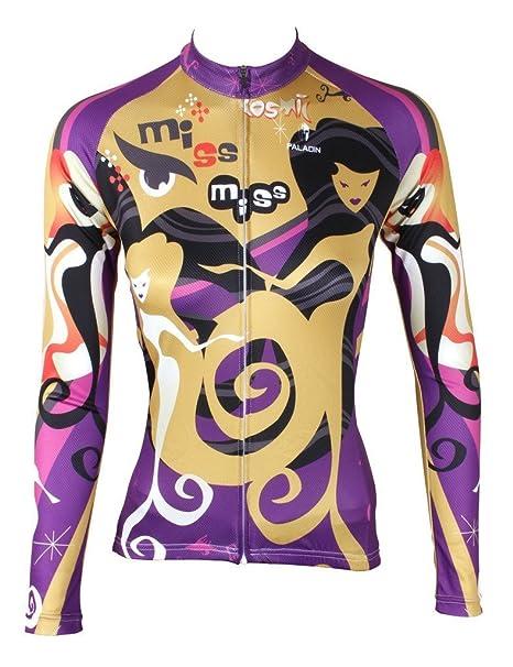 Girl Women/'s Sportswear Long Sleeve Cycling Jerseys Bicycle Bike Shirts Tops