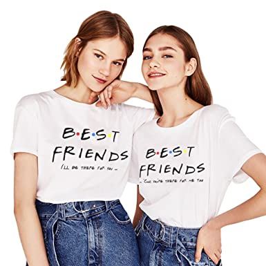 299d6d60e Best Friend TV Tee Friends Shirts For 2 Girls Women Matching Line Stylish  Pivot Top(