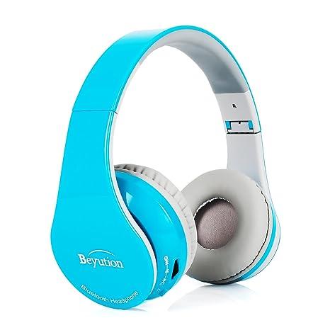 a41cd75318b Beyution Bluetooth Headphones Over Ear Wireless Headset Bluetooth 4.1 HD Stereo  Headphones Foldable with Mic 15