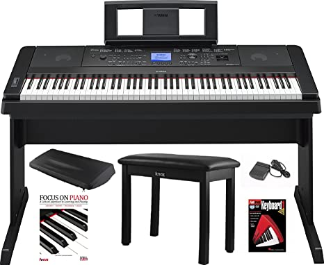Yamaha Dgx 660 88 Key Grand Digital Piano With Knox Piano Benchpedaldust Cover And Bookdvd
