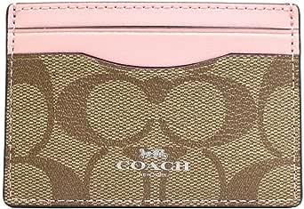 Coach F63279 SVN3X Signature Logo PVC Card Case in Silver/ khaki/ Blush 2