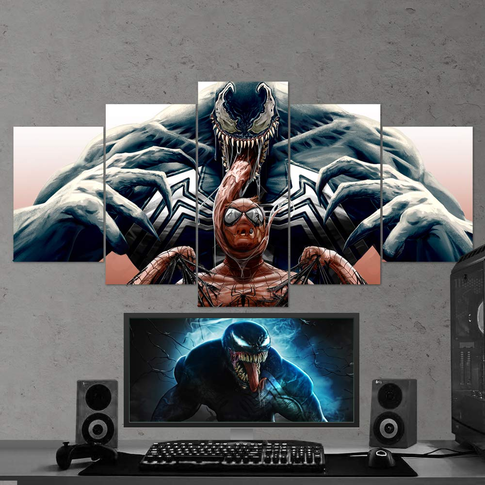Amazon com venom spiderman canvas wall art venom multi panel art