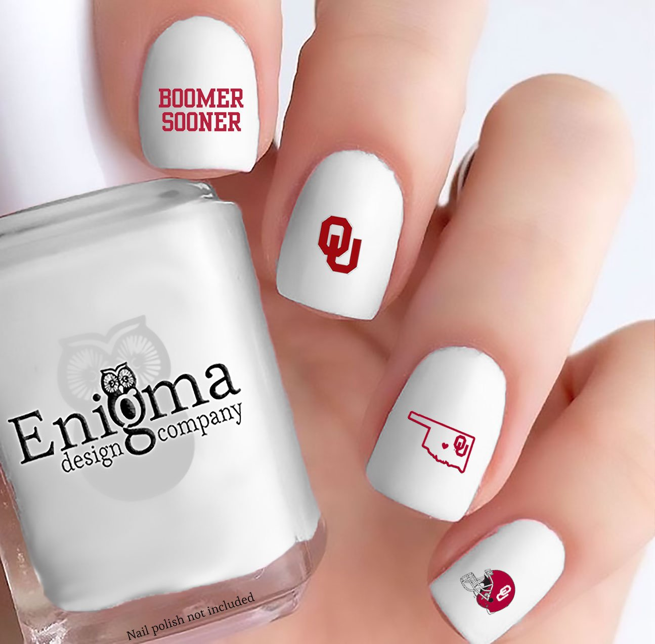 Amazon Oklahoma Sooners Nail Decals Set Of 71 Clear Water