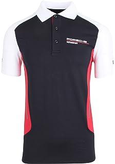 Amazon.es: Porsche Hombre de Polo Camiseta talla L, Negro/Gris ...