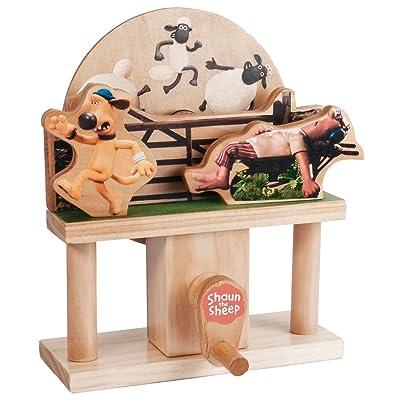 TIMBERKITS Sleepy Farmer Automata Shaun The Sheep Mechanical Wooden Puzzle-Model Construction Kit, Wood: Toys & Games