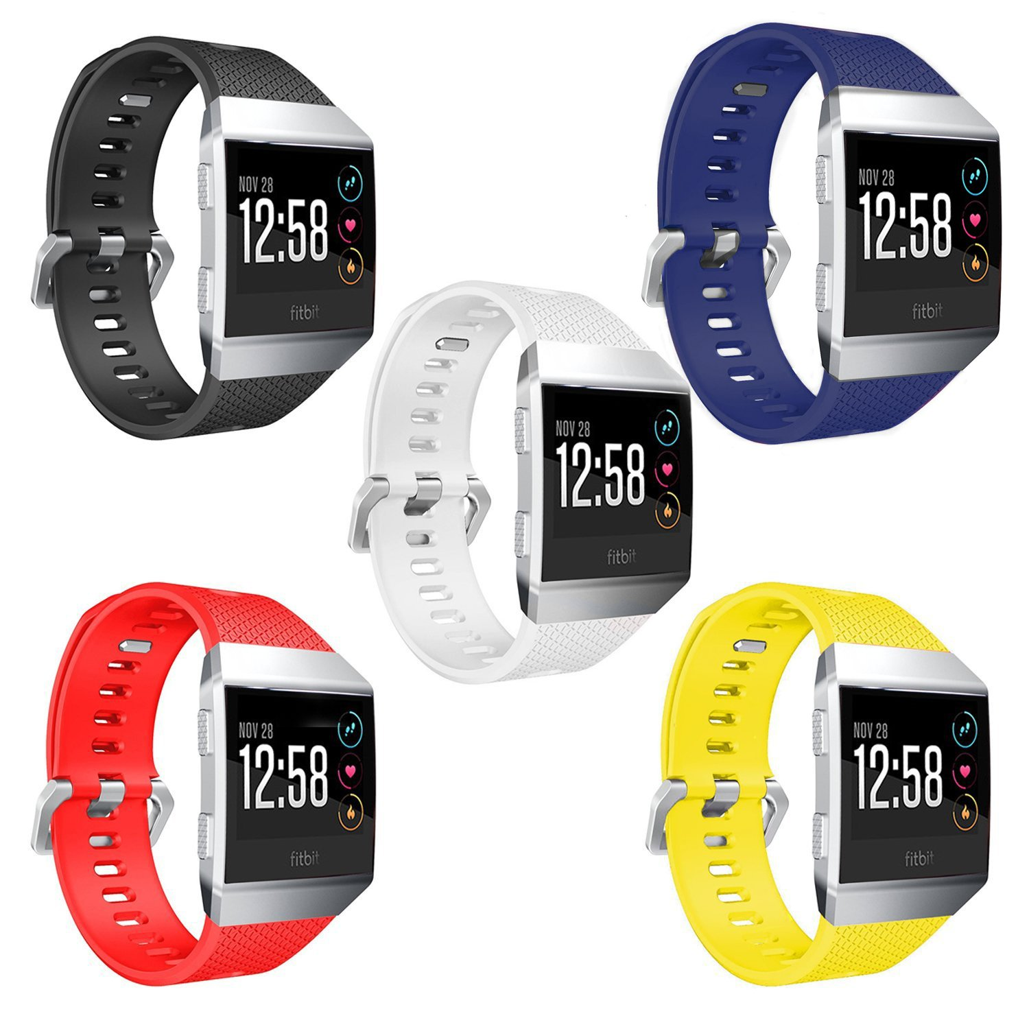 Orzly Correas Reloj Fitbit Iconic, Multipack de 5 Correas ...