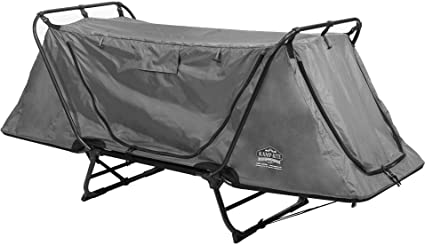 Outdoor Tactical Double Layer 1 Person Folding Camping Cot Bed Tent Sleeping Bag
