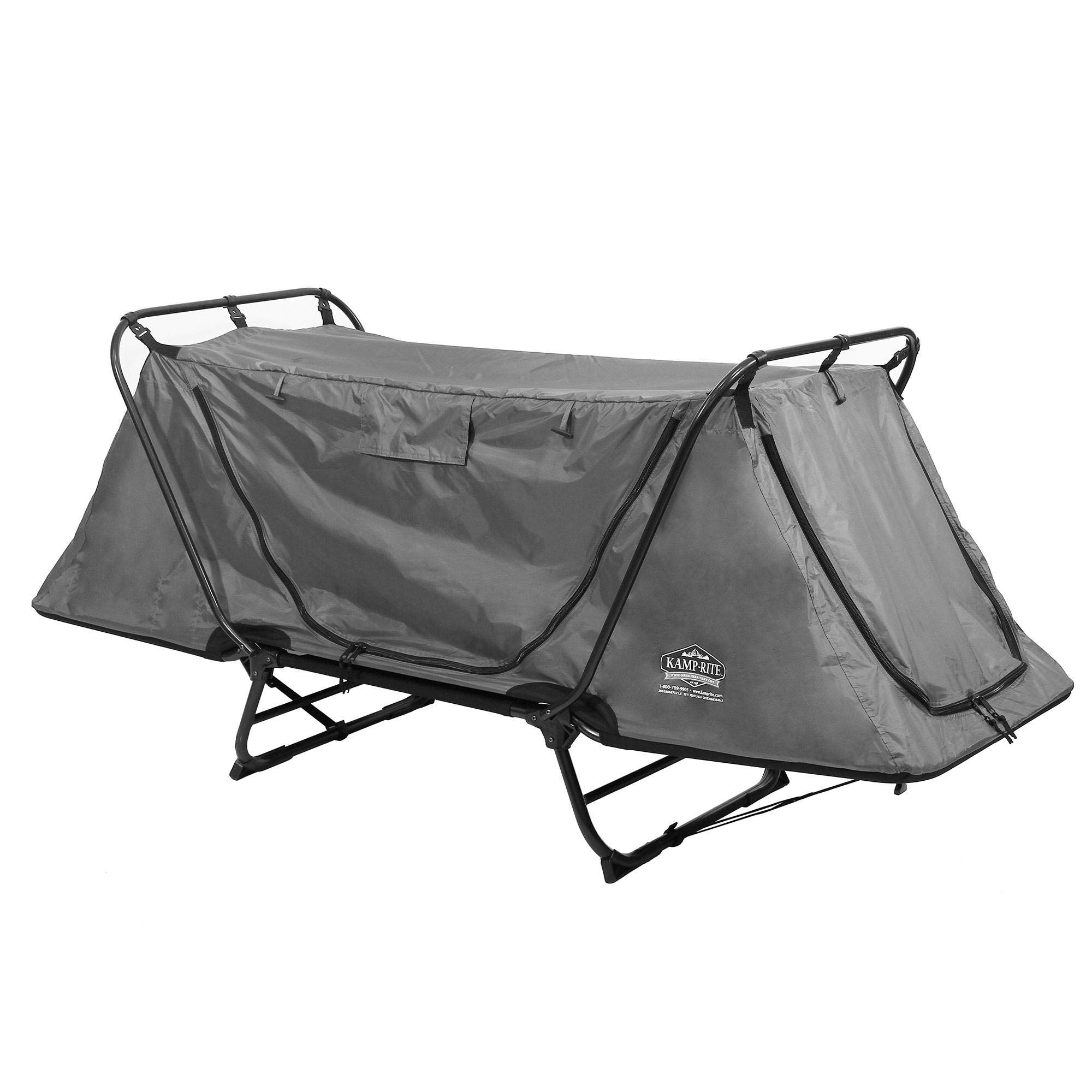 Kamp-Rite Original Tent Cot Folding Camping and Hiking Bed for 1 Person, Gray by Kamp-Rite