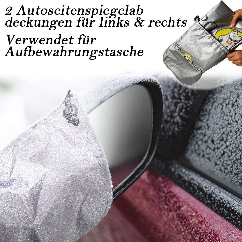 Sun Visor Snow Car Windscreen Big Hippo Car Sun Shade for Windscreen Dust Foldable 190 x 125 cm Frost Sun Shade for Windscreen 5 Magnets for UV Protection against Sun