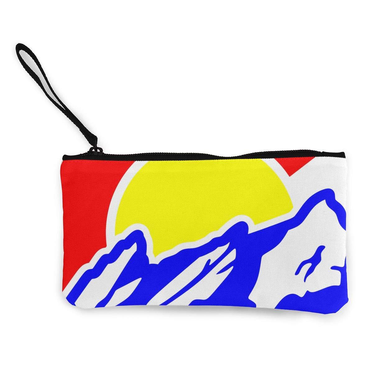 Make Up Bag Cellphone Bag With Handle TR7FD15DE Colorado Mountain Bear Zipper Canvas Coin Purse Wallet