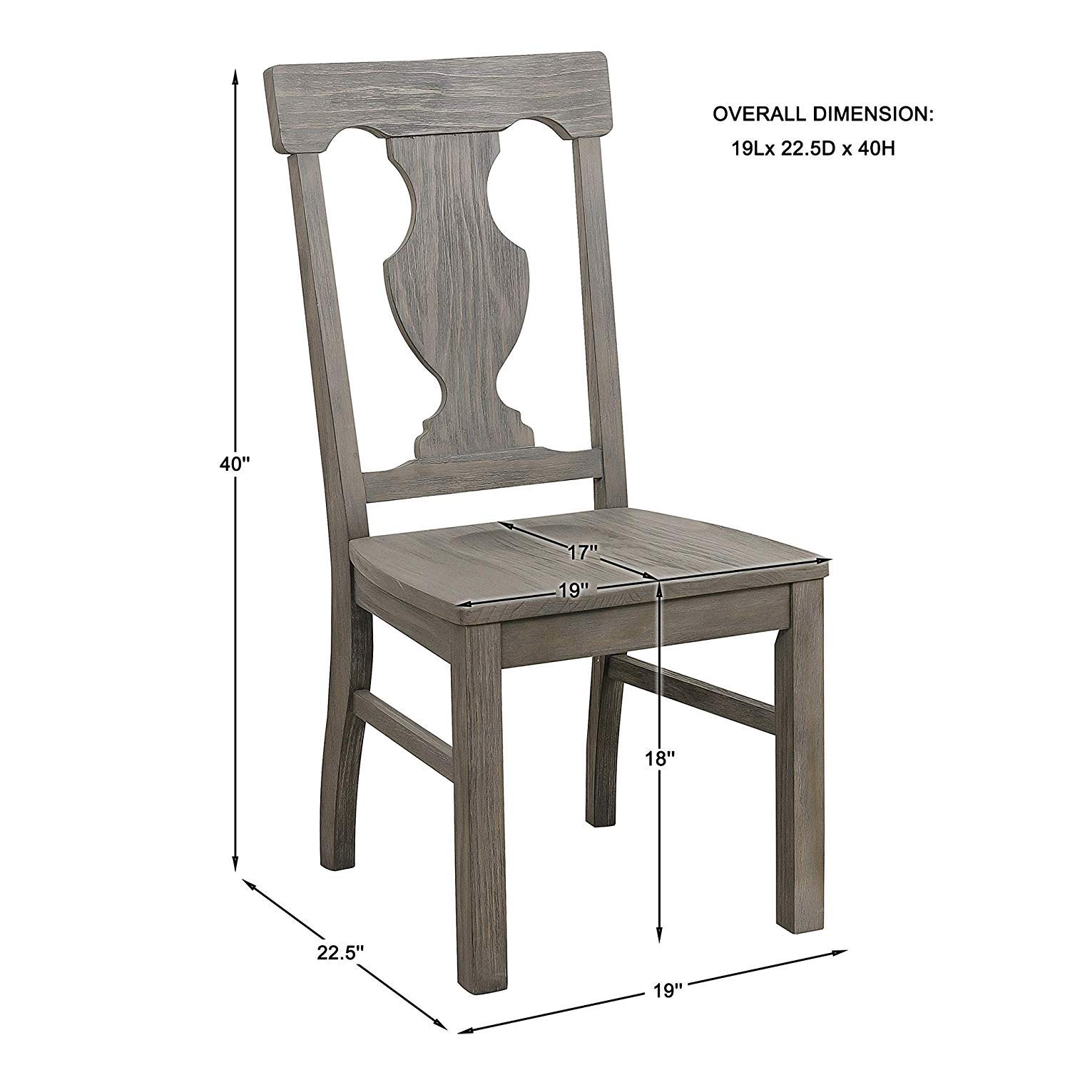Prime Amazon Com Toulon Side Chair In Oak Set Of 2 Chairs Short Links Chair Design For Home Short Linksinfo