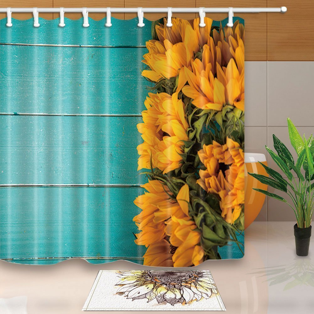 US State Map Shower Curtain Bathroom Decor Fabric /& 12hooks 71x71in