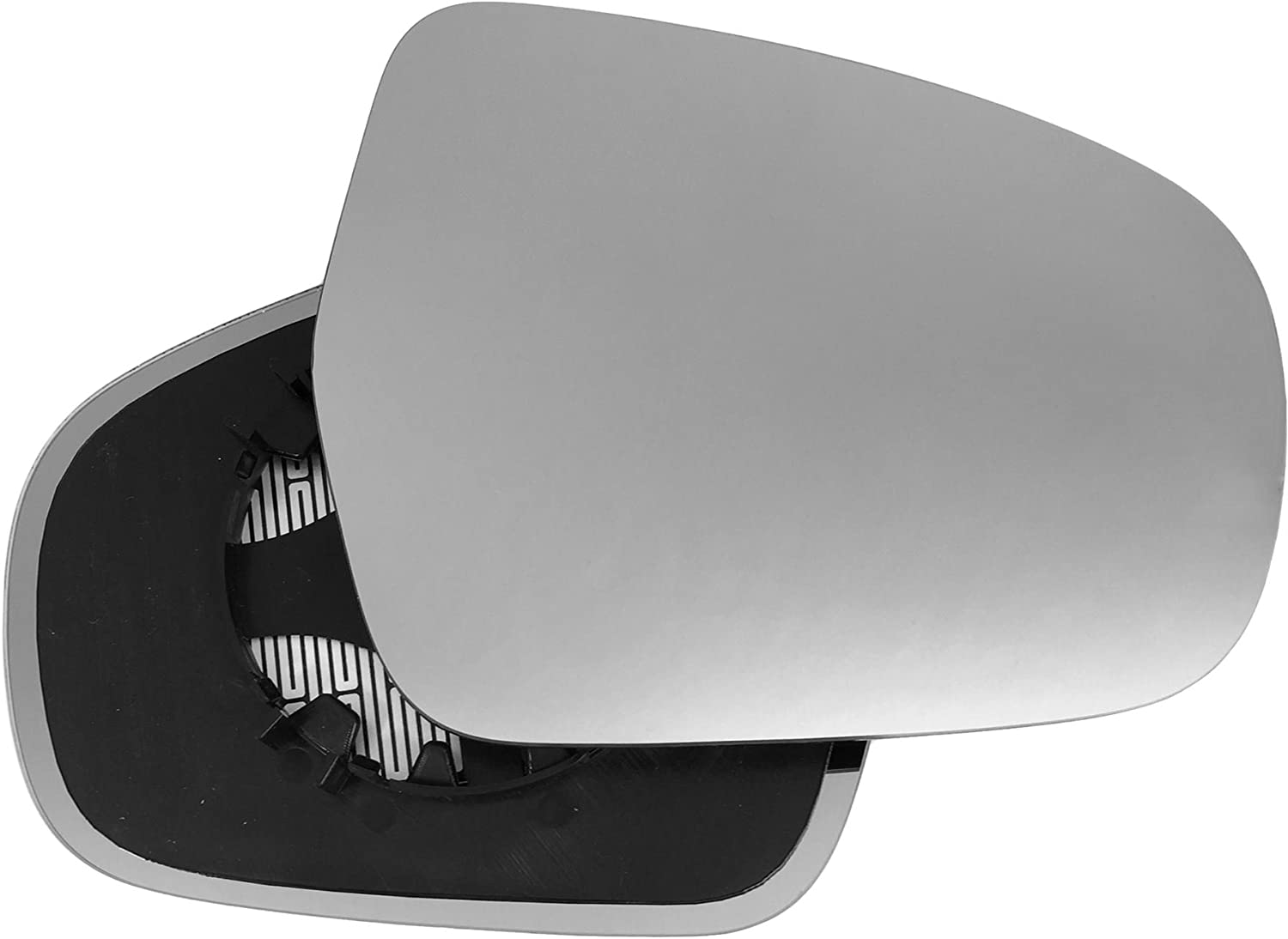 Clip On Driver right hand side Heated wing door Silver mirror glass with backing plate #C-SHY//R-SIVA15