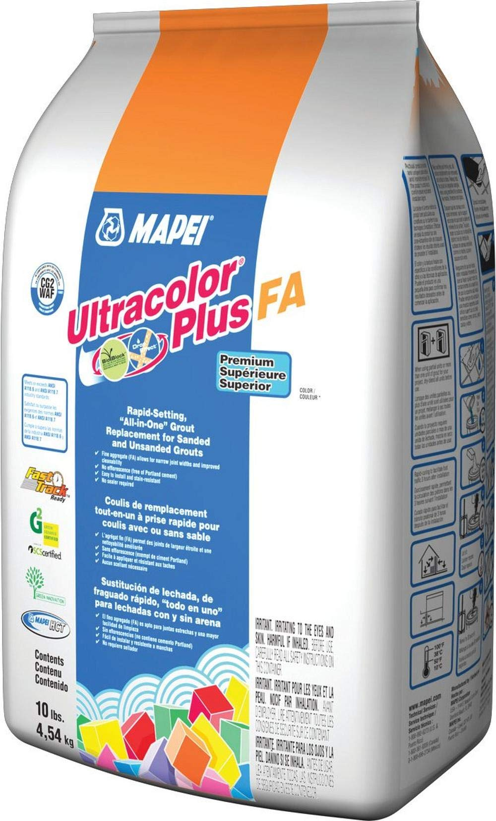 MAPEI Ultracolor Plus FA Powder Grout - 10LB/Bag - (38 Avalanche) by Ultracolor Plus FA (Image #2)