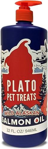 Plato Treats Wild Alaskan Salmon Oil Dog Treat, 32-oz