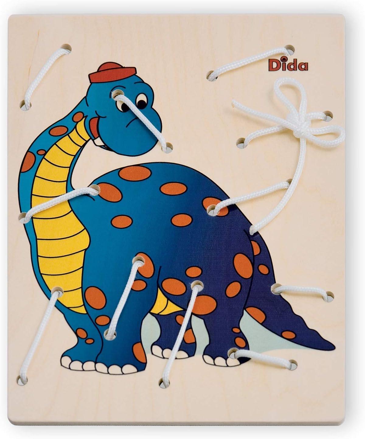 Dida Allacciatura Dinosauro Il Gioco dei Lacci per sviluppare la manualità dei Bambini attività Montessori
