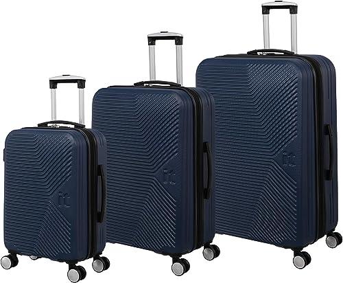 it luggage Aligned 3 Piece Hardside Expandable Set, Poseidon with Black Trim