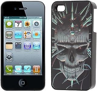 3D Skull Printed Protecive peau couverture de cas pour l'iPhone 4 4S 4G 4GS