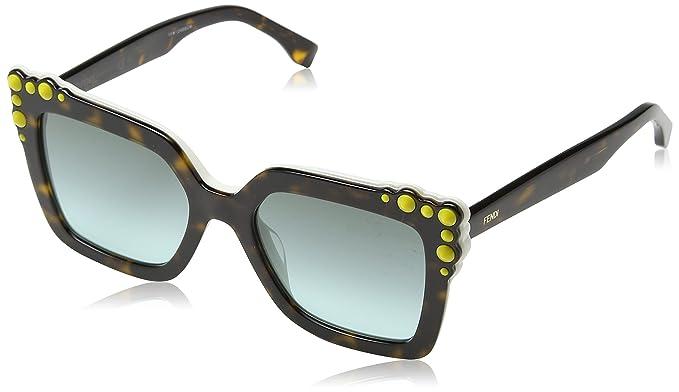 Fendi FF0260/S Sonnenbrille Havanna / Weiß C9K 52mm cOUV0s3RPX