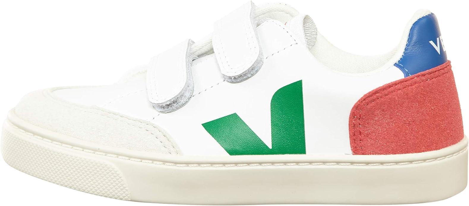 Veja Small V-12 Velcro Leather Big Kids