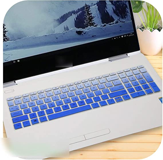 15 Inch Laptop Keyboard Cover Protector for Hp Notebook 15 Bs011Nw 15 Bs001Tx 15 Bs002Tu 15 Bs005Tx 15 Bs007Tx 15 Bs080Wm 033Cl-Rainbow