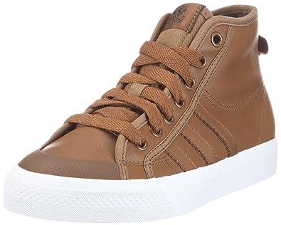 741d2798f23966 adidas Originals Nizza Hi V24925 Unisex Trainers Brown Size  12.5 UK ...