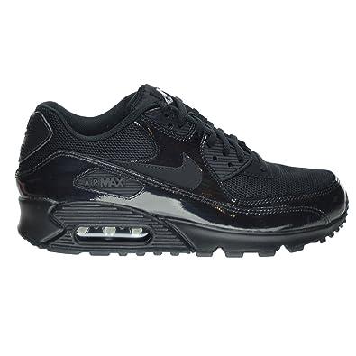 ac60731abb Nike Air Max 90 Premium Women's Shoes Black/Metallic Silver 443817-002 (11
