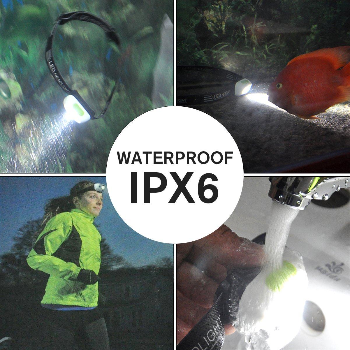 CREE LED Head Torch Lamp USB Rechargeable Waterproof Sensor Headlamp Flashlight