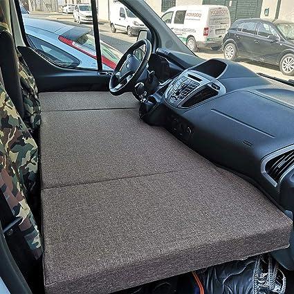 kfoam.es Colchón Plegable Cama Delantera Camper para Ford Transit Color Gris (+2013): Amazon.es: Coche y moto