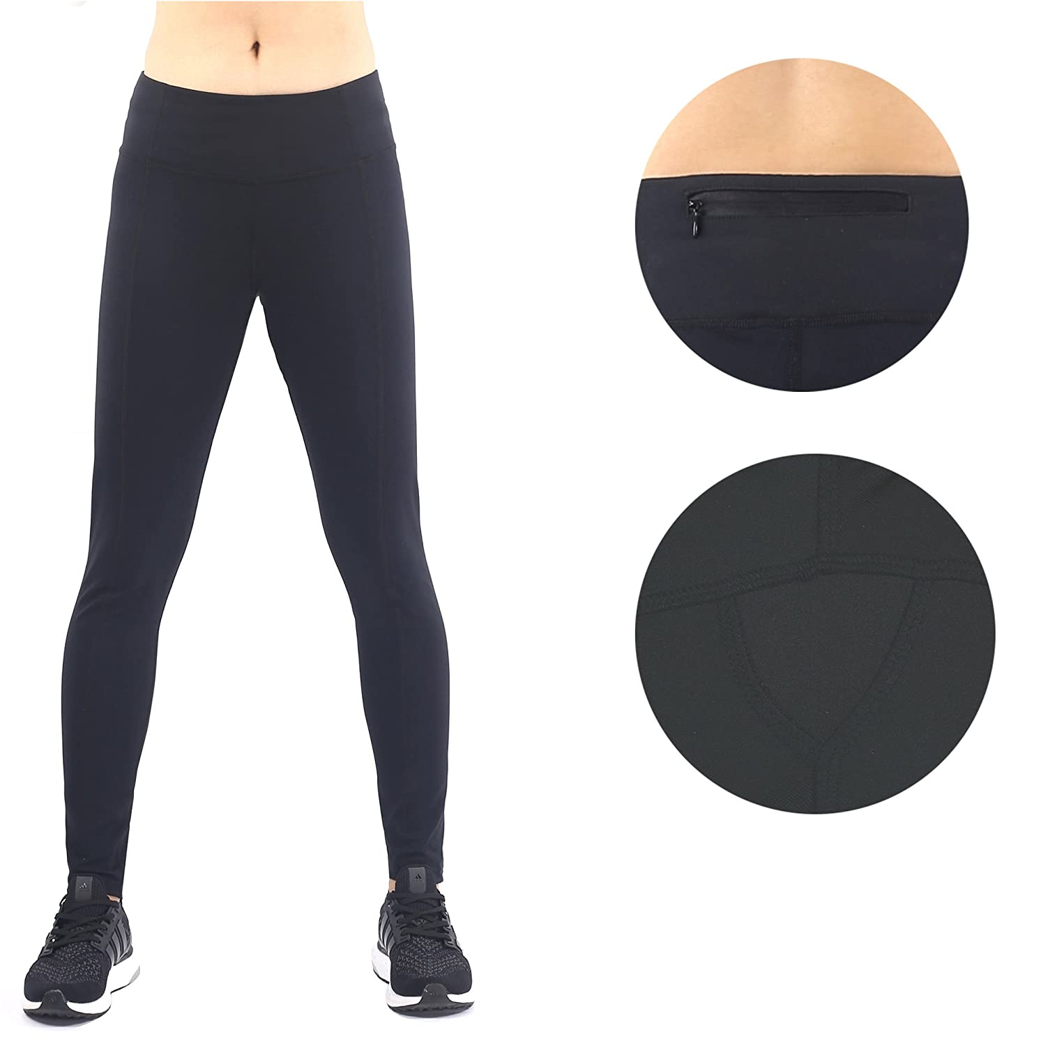 Sugar Pocket Womens Workout Leggings Ankle Length Yoga Pants