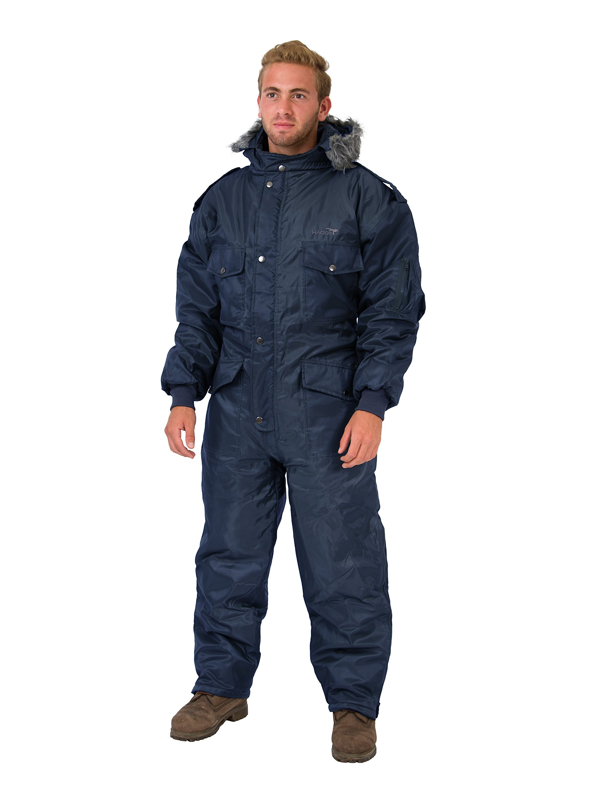 Navy Blue IDF Snowsuit Winter Clothing Snow Ski Suit Coverall Insulated Suit (L)