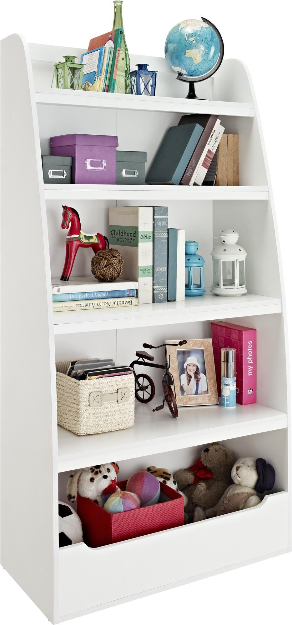 Ameriwood Home Hazel Kids' 4 Shelf Bookcase, White by Ameriwood Home (Image #2)