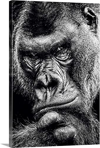 Dark Gorilla Canvas Wall Art Print