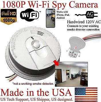 Amazon Com Zeus Cctv 1080p Hd Smoke Detector Wifi Spy Camera