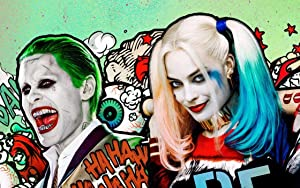 Movie Suicide Squad Diamond Painting Kit DIY 5D Full Round Drill Diamond Embroidery Home Décor for Christmas Gift(40x50cm)