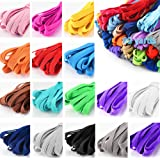 Color Elastic Bands For Sewing, 1/4 Inch Elastic String For Masks, 16 Colored Elastic For Sewing Masks, Headbands, Hair…