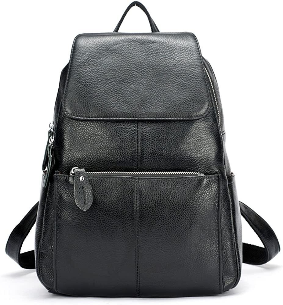 Women Backpack Elegant Shoulder Bag Faux Leather Casual Preppy Style Daypack