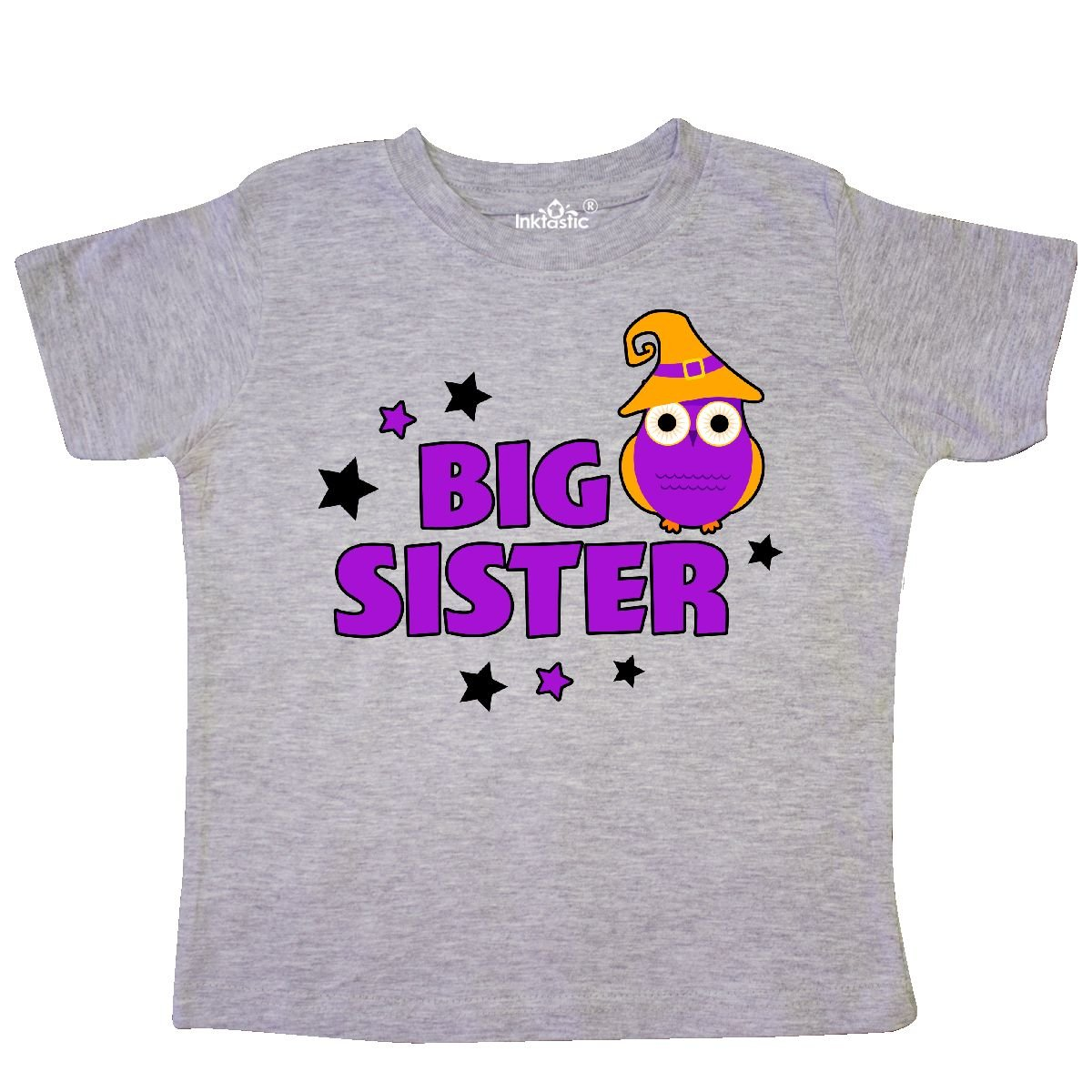 inktastic Halloween Big Sister with Owl and Stars Toddler T-Shirt